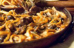 Baked Mushroom Linguine
