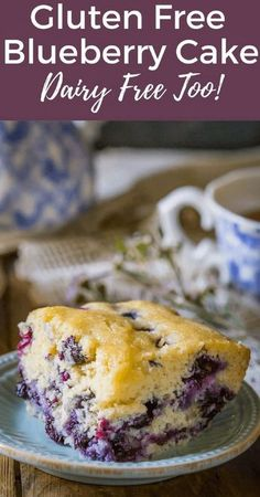 Make any occasion a hit with lactose freindly dairy free desserts Perfect Gluten Free Blueberry Cake, it's super easy to make from scratch and a real treat for breakfast! It's dairy free too and you can freeze the leftover cake for later. Dairy Free Snacks, Dairy Free Breakfasts, Gluten Free Sweets, Gluten Free Cakes, Gluten And Dairy Free Desserts Easy, Gluten Dairy Free, Dairy Free Deserts, Gluten Free Coffee Cake, Gluten Free Cake Recipe From Scratch
