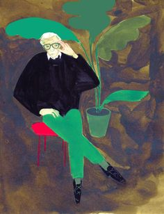 Woody Allen by Anna Topuriya.