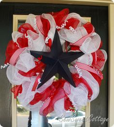 Fourth of July Wreath...Sew Sweet Cottage