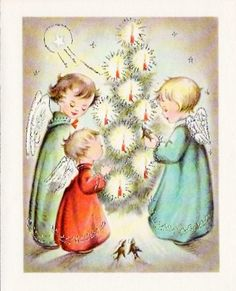 Angels Christmas Cards.347 Best Christmas Vintage Angel Cards Images Christmas