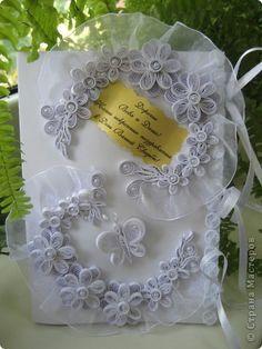 Открытка Свадьба Квиллинг подарок на свадьбу Бумажные полосы фото 1