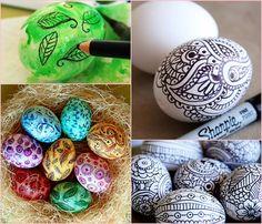 Фото идеи росписи и украшения пасхальных яиц своими руками