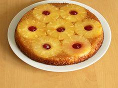 Gâteau renversé à l'ananas et cerises confites
