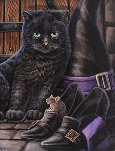 "Black Cat Magick Canvas Picture by Lisa Parker ""Trouble & Squeak"" New Design Halloween Illustration, Halloween Pictures, Halloween Cat, Lisa Parker, Gato Grande, Magic Cat, Black Cat Art, Black Cats, Witch Cat"