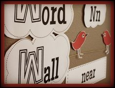 Need a new word wall? Up in the Sky Word Wall includes a portable word wall booklet, two font choices, words, colors, numbers and editable pages. $