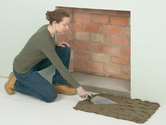 How To Install A Stone Hearth And Fireplace Surround