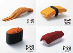 Sushi Clothes – Pleats Please Izzey Miyake by Taku Satoh Design Office Inc.