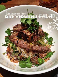 Lemongrass Beef Rice Vermicelli Salad