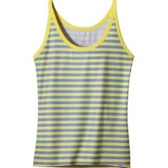 Patagonia Capilene 1 Silkweight Tank Top - Women's Pearson Stripe: Pineapple, L - product - Product Review