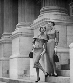 Julius Garfinckel & Co 1956 Jean Patchett (L) & Leonie Vernet ®