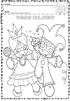 Visit the post for more. Preschool Coloring Pages, Colouring Pages, Coloring Sheets, Crafts For Kids, Arts And Crafts, Paper Crafts, Theme Carnaval, Carnival Crafts, Mask Template