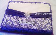 damask sheet cake