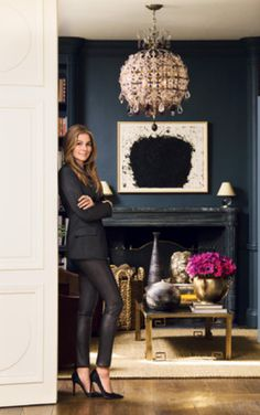 Aerin Lauder's and a chandelier of her own design.