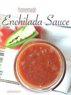 HOMEMADE ENCHILADA SAUCE | so much better than the canned stuff and it's super simple to make! www.togetherasfamily.com
