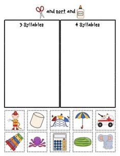 Syllable Sorts {Phonemic Awareness Sorting Series, Set #1}  $