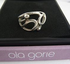 Scottish 1980s Ola Gorie Sterling Silver Ring