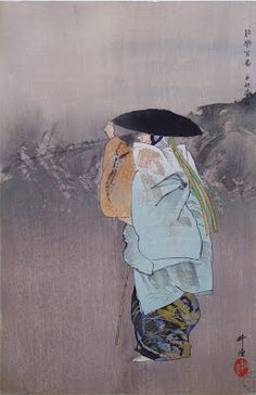 Sotoba Komachi 卒都婆小町 (Komachi on the Gravepost)  No. 28 from the series Nōgaku hyakuban  by Tsukioka Kōgyo, 1923 - Japanese Color Woodblock - The Lavenberg Collection of Japanese Prints