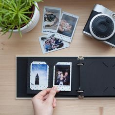 Perfect Polaroid photo album. Instax Mini album for 60 photos of your sweet memories. Elegant design, 2 ring photo album. Available in creamy white color with black paper sheets. Album Size: 19 cm x 13.5 cm (7.4 in x5.3 in).