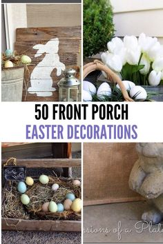 Easter Table Decorations, Outdoor Decorations, Chocolate Easter Bunny, Easter Colors, Easter Crafts, Topiaries, Front Porch, Egg, Decor Ideas