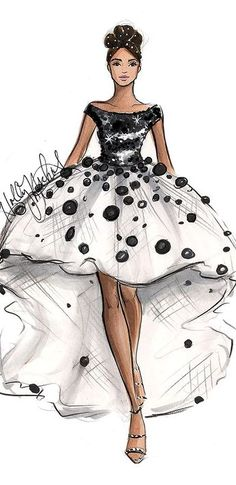 H. Nichols fashion Illustration