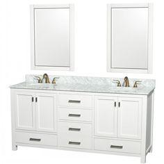 Wonderful White Bathroom Vanities and Sinks with Shaker Style ...