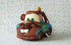 #Disney-Pixar Cars Make Me Laugh Mater Stuffed Car #DisneyCarsMovie #LarryThecableGuy #TalkingTowMater #DisneyCarsToys