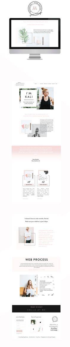 June Mango Design   Feminine Web Design   Bold, Clean Design
