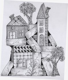 'High Rise' by Penstrokes by Cathy