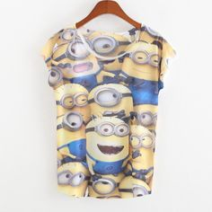 tee shirt femme Summer Unisex Women Men Despicable Me Minions Funny t-shirt Casual Print t shirts harajuku Tshirt Tops Cosplay