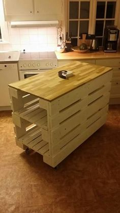 Ideas for pallet outdoor furniture diy kitchen islands Wooden Pallet Projects, Wooden Pallet Furniture, Diy Outdoor Furniture, Woodworking Projects Diy, Woodworking Furniture, Pallet Ideas, Furniture Projects, Kitchen Furniture, Diy Furniture