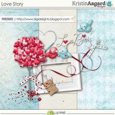 Quality DigiScrap Freebies: Love Story mini kit freebie from Kristin Aagard Designs