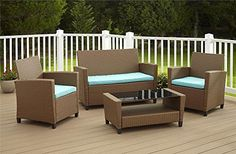 Outdoor Patio Furniture Modern Sleek Weather Resistant Low Maintenance