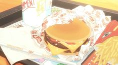 anime food (from Tanaka-kun wa Itsumo Kedaruge)