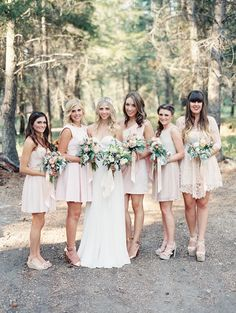 #Bridesmaids | See the wedding on SMP -  http://www.StyleMePretty.com/2014/01/06/romantic-country-montana-wedding-at-the-weatherwood-homestead/ Jeremiah and Rachel Photography