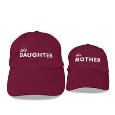 Mommy and Me Embroidered Hats Dad Caps Like Mother Like Daughter Hat ba0b2f6aa728