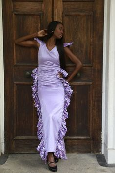 Sample African print gown by BoutiqueDeLAfrique on Etsy Printed Gowns, High End Fashion, Boutique, Fashion Brand, Sari, Places, Cotton, How To Wear, Etsy