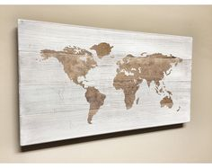 World Map Push Pin Travel Theme Decor Nursery World Map