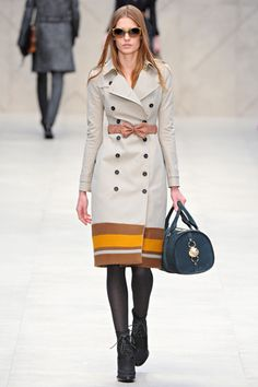 Why not swap out the usual tie belt for a more fun one? Burberry Prorsum Fall 2012