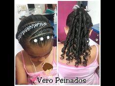 PEINADO INFANTIL/ trenza puente con tejido X/ peinado para niñas/ peinados - YouTube Dreadlocks, Hair Styles, Beauty, Mary, Youtube, Projects, Curly, Hairstyles For Natural Hair, Hair