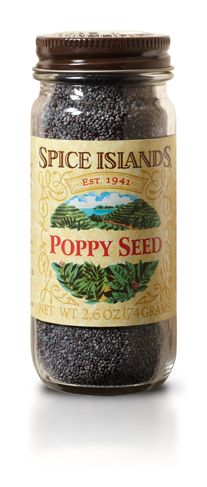 POPPY SEED  Nutty and slightly sweet, poppy seeds are a great way to add flavor and texture to a meal. And they work well with a variety of sweet and savory dishes.    Use poppy seeds whole on breads, desserts and pastries. Or add them to fruit salad dressings or pancake batters.