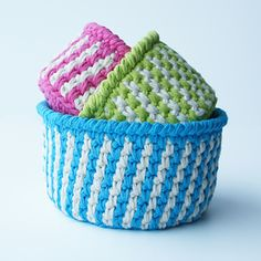 beautiful stripes baskets!
