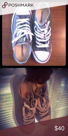 Converse All🌟Stars, worn once, size8 I'm a size 9. This is a size 8. Selling because it doesn't fit. Was a birthday gift. Converse Shoes Sneakers