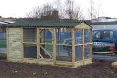 Image result for wooden chicken coop and run