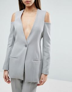 ASOS Cold Shoulder Sexy Fitted Jacket