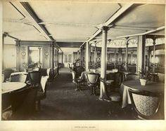The Grand Dining Salon Of Cunard Steamships Campania