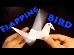 How to Make an Origami Flapping Bird - Rob's World - YouTube