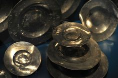Pewter plates found on the wreck of the Tudor warship Mary Rose