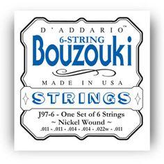 DAddario J85 Phosphor Bronze Bajo Quinto Strings,10 string