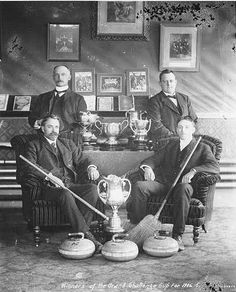 Curling team sitting around trophies, Dawson, Yukon Territory Bible Quiz, Yukon Territory, Challenge Cup, Olympic Sports, Photo Memories, Alaska, Curls, Black And Grey, The Past